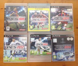 Colección Videojuegos PES PS3