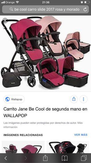 Carrito de bebé doble color be cool slide