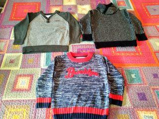 Lote de 3 jerseys niño TALLA 3-4 COMO NUEVOS