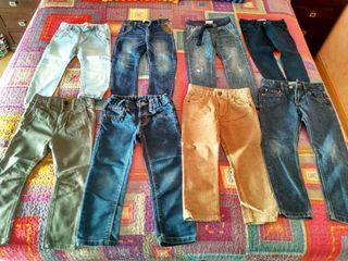 Lote de 8 pantalones niño TALLA 3-4