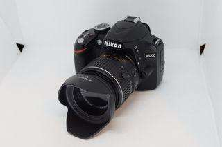 Cámara Reflex Nikon D3200+tarjeta memoria 16gb
