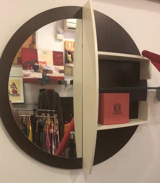 Espejo circular Diseño redondo Madera