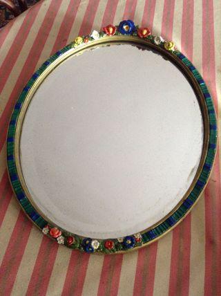 Espejo marco pintado A Mano Antiguo
