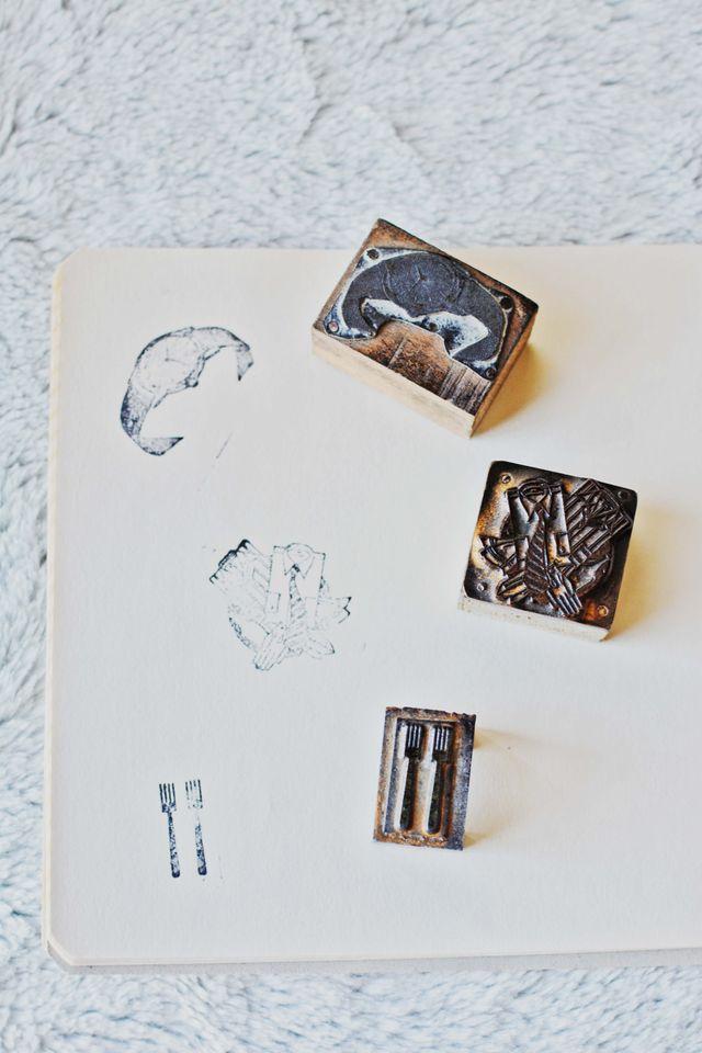 Sellos de antigua imprenta temática comercio