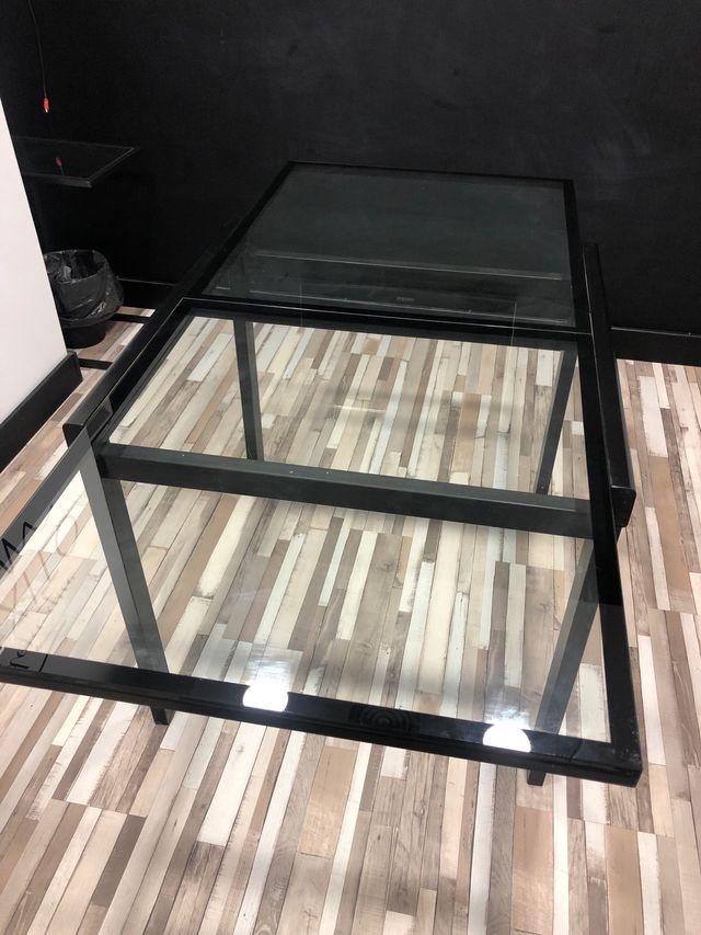 Mesa abatible de cristal