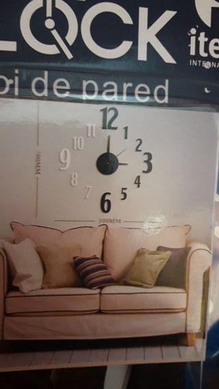 relojes pared adhesivos