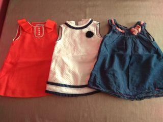 vestidos y culotes de niña