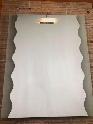 Espejo de 105x90 cm y 100 x70 cm grosor 5 mm