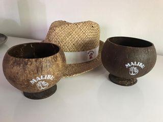 2 COCOpas y sombrero Malibu