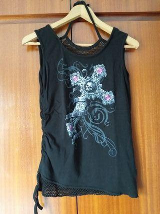 Top/camiseta sin mangas gótica Spiral