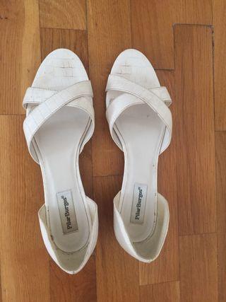 Sandalias blancas 39