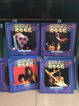 Lote 50 discos colección Historia Música Rock