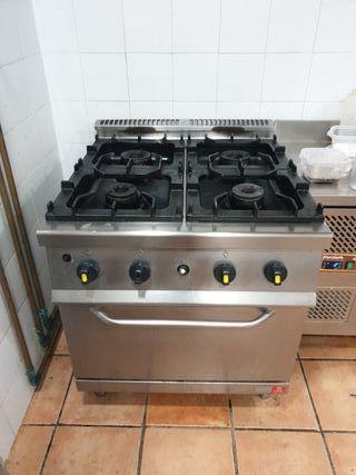 cocina y horno industrial Inox
