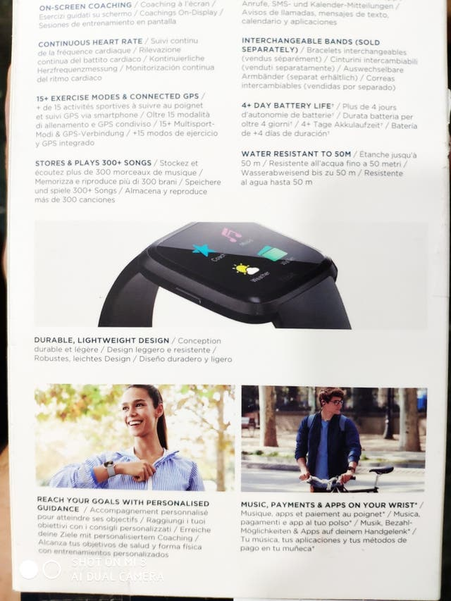 pulsera Fitbit versa sin abrir