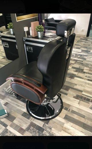 sillón barbero nuevo