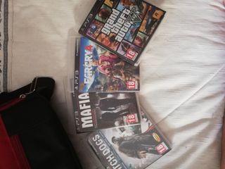 Juegos PS3 ( GTA 5, Farcry 4, Mafia 2, Watchdogs)