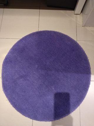 Alfombra circular Azul 70 cm diámetro
