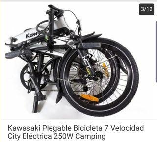 Kawasaki electrica plegable a estrenar