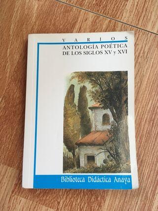 Libro Antología Poética S. XV y XVI