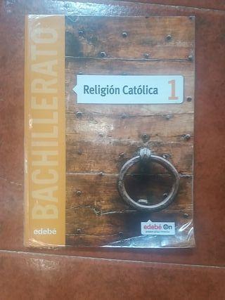 """Libro """"Religión Católica"""" edebé de 1° Bachillerato"""