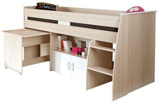 Cama compacta Juvenil con escritorio