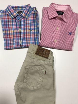 2 camisas y pantalon Hackett de niño talla 2