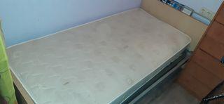 cama completa 190 y estructura