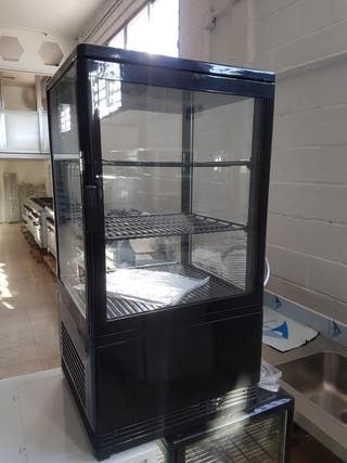 vitrina 4 caras negra refrigerada
