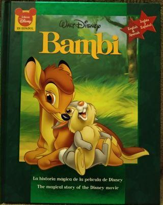 """Libro """"Bambi"""" de Disney español-ingles"""