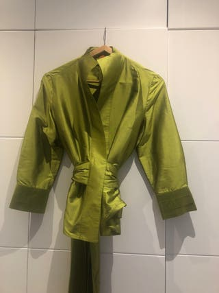 Blusa i chaqueta de seda para señora de boda MIRTO