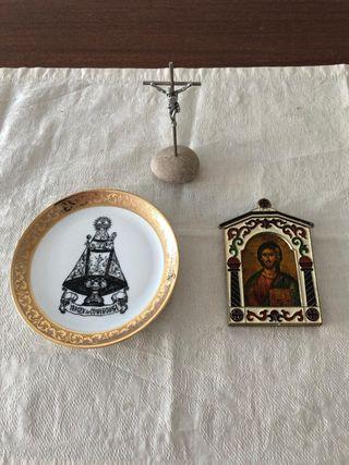 Lote objetos religiosos