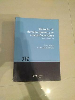"""libro """"historia del derecho romano"""""""