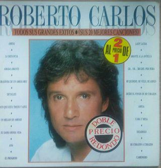 Disco d vinilo Doble Roberto Carlos Grandes Exitos