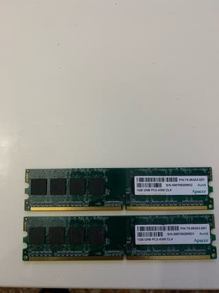 Memoria Ram 1Gb x 2 DDR2