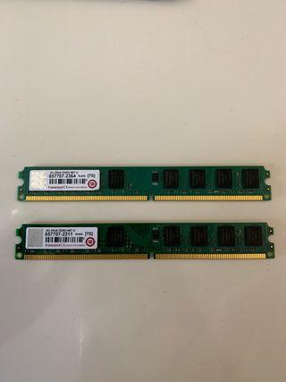 Memoria Ram 2gb x 2 DDR2 667