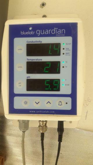 Medidor de PH, EC y temperatura.