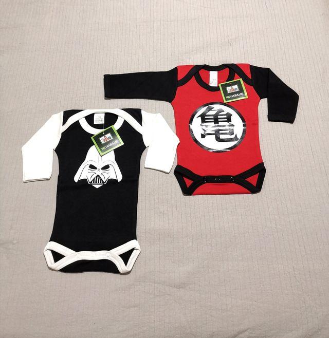 2 Bodys bebé star wars y dragon ball