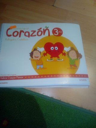 libro religión corazón 3 NUEVO