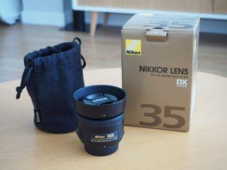 Objetivo Nikon Nikkor DX 35mm f1.8