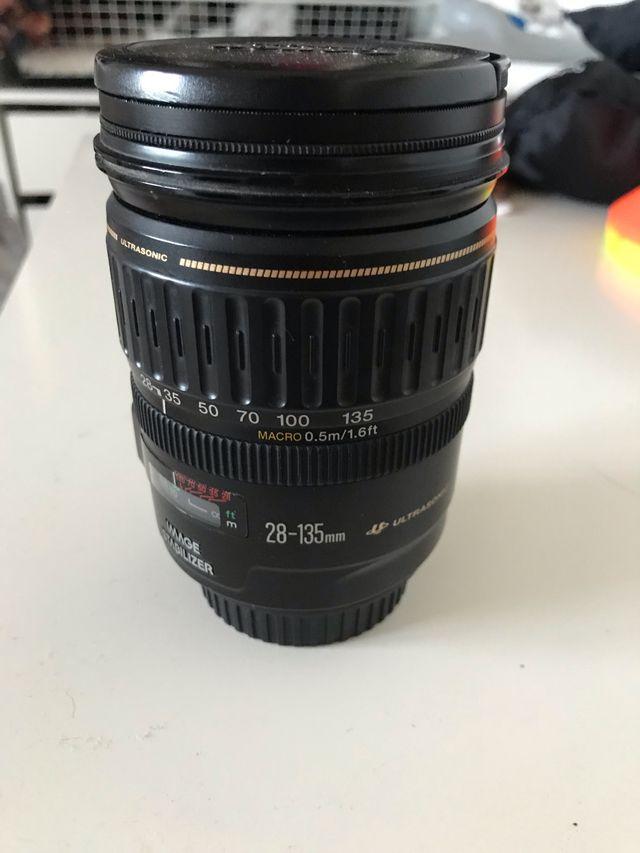 28-135 full frame canon objetivo