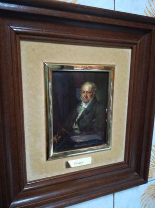 dos cuadros replica de Goya