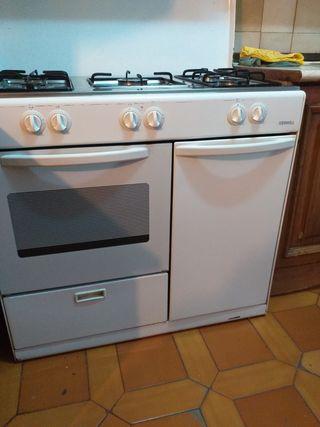 Cocina de gas con horno y extractor