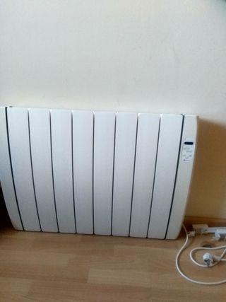 calefactor eléctrico de calor azul