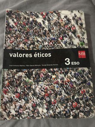 Libro Valores Eticos 3 ESO. Ed. SM