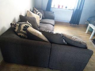 DFS sofa l-shape brown so comfortable