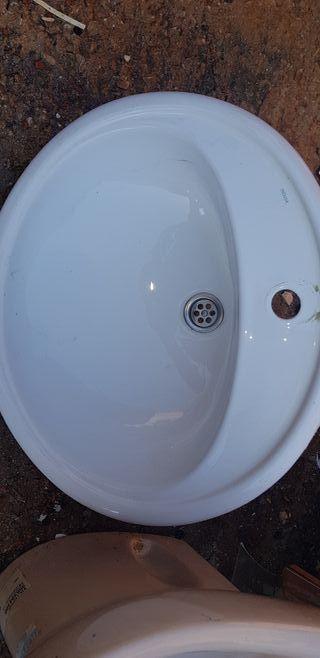 lavabo encastre blanco