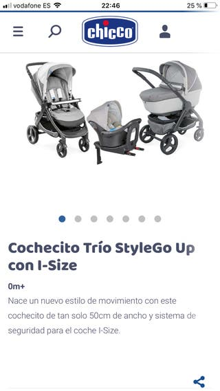 Cochecito Chicco trío stylego up con i-Size