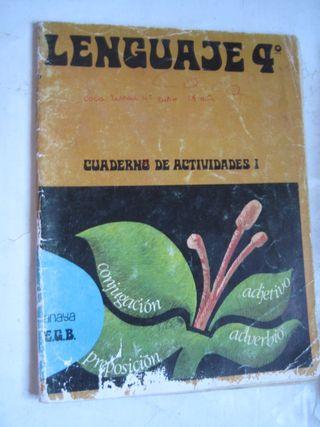 libro Lenguaje 4º EGB anaya cuaderno actividades I