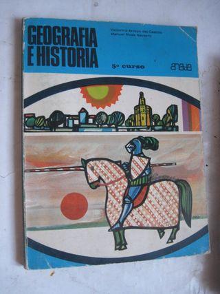 libro Geografía e Historia 5º EGB anaya V. Arroyo