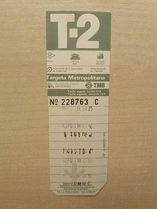 Targeta Metropolitana T-2 Olimpiadas Moscou 1980